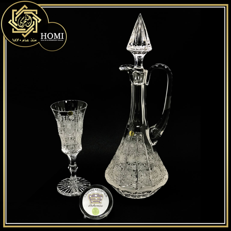 Bohemia Crystal  – Glamour Factory – Hand Made – Lead Ratio 24% – Country of Origin Czech